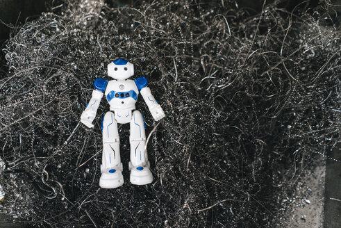 Toy robot on metal wires - KNSF04920