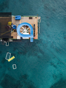 Indonesia, Bali, Aerial view of bathing platform - KNTF01867