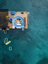 Indonesia, Bali, Aerial view of bathing platform - KNTF01867