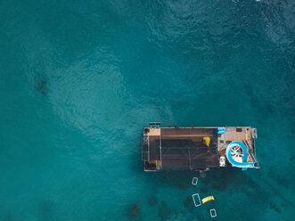 Indonesia, Bali, Aerial view of bathing platform - KNTF01882