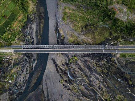 Indonesia, Bali, Aerial view of bridge - KNTF01891