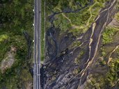Indonesia, Bali, Aerial view of bridge and river - KNTF01894