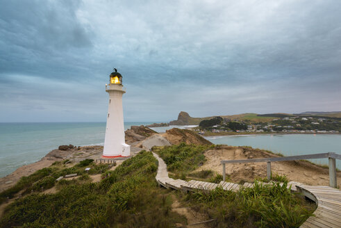 New Zealand, North Island, Wellington, Wairarapa coast, Castle Point Lighthouse - MKFF00400