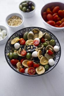 Mediterranean orecchiette with tomato, olives, mozzarella - GIOF04534