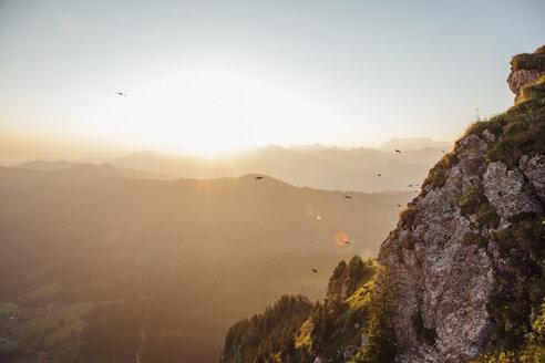 Switzerland, Grosser Mythen, sunrise above alpine landscape - LHPF00064