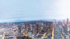 USA, Washington State, Seattle, Skyline, Downtown in the evening - MMAF00576