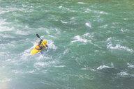 USA, Washington State, kayaker on Snoqualmie River - MMA00609