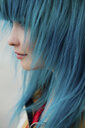 Young woman with dyed blue hair, close-up - VPIF00866