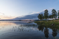 Finland, Lapland, twilight above stunning lake - KKAF02340