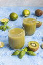 Glasses of kiwi lime juice - JUNF01343