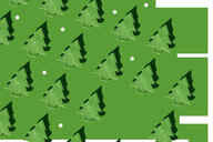 Rows of green Christmas trees and white dots on green ground, 3D Rendering - ERRF00032