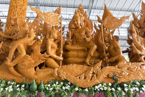 Thailand, Ubon Ratchathani Province, Candle Festival, wax works - ZCF00672