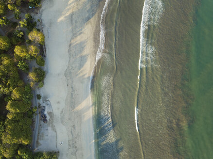 Indonesia, Bali, Aerial view of Kuta beach from above - KNTF01966