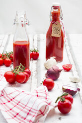 Homemade tomato ketchup and ingredients - LVF07450