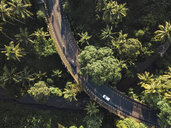 Indonesia, Bali, Ubud, Aerial view of bridge - KNTF01983