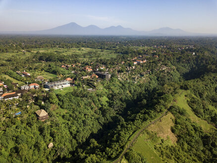 Indonesia, Bali, Ubud, Aerial view of path - KNTF02010