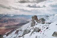 Snow covered mountain ranges, Dêngqên, Xizang, China - CUF44408