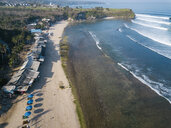 Indonesia, Bali, Aerial view of Balangan beach - KNTF02045