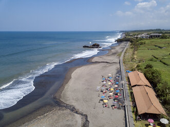 Indonesia, Bali, Aerial view of Yeh Gangga beach - KNTF02099