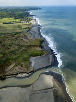Indonesia, Bali, Aerial view of Yeh Gangga beach - KNTF02111