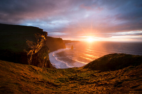 Cliffs of Moher at sunset, Doolin, Clare, Ireland - CUF44809