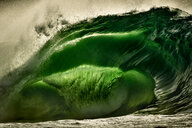 Riley's wave, a giant barreling wave, Kilkee, Clare, Ireland - CUF44875
