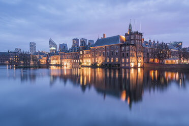 Netherlands, Holland, The Hague , Binnenhof in the evening - RPSF00252