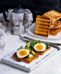 Breakfast served on a white table - INGF00092