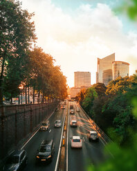 Cars on a busy road in the city during sunset - INGF00307