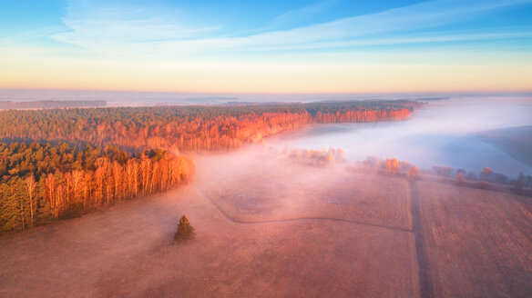 Aerial landscape view of a beautiful scenic sunset - INGF00424