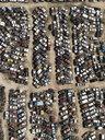 Aerial view old cars in junkyard, Bakersfield, California, USA - FSIF03233