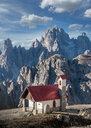 Church, Dolomites near Cortina d'Ampezzo, Veneto, Italy - CUF45409
