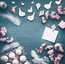 Beautiful still life shot of pink objects on a table - INGF00473