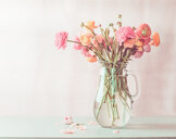 Close-up of fragile pink flowers in a vase - INGF00566