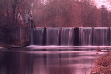 Scenic view of a waterfall in motion in the forest - INGF00773