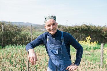 Man in vegetable garden - CUF46233