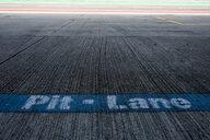 Writing pit lane on racetrack - HAMF00436