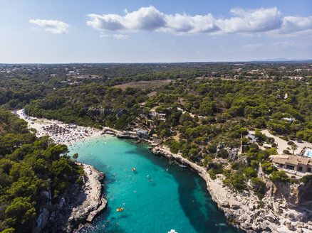Spain, Balearic Islands, Mallorca, Aerial view of Cala Llombards - AMF06029