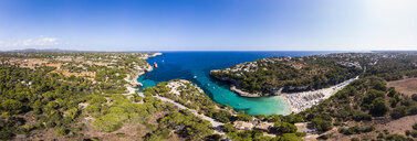 Spain, Balearic Islands, Mallorca, Aerial view of Cala Llombards - AMF06032