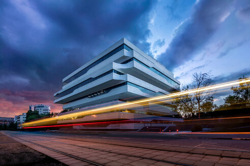 Light trails by Dominion Tower in Moscow - LUXF01160