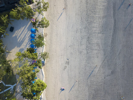 Indonesia, Bali, Aerial view of Jimbaran beach from above - KNTF02135