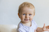 Portrait of happy blond baby girl - TCF05862