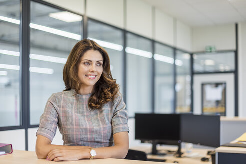 Smiling office worker sitting at desk - DIGF05278