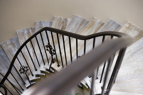 High angle view of spiral staircase - LUXF01362