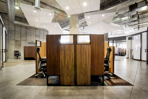 Wooden office cubicles - LUXF01389