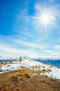 Snowy walk in New Zealand mountains - INGF02745