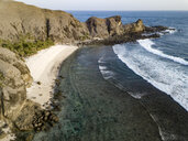 Indonesia, Lombok, Aerial view of beach - KNTF02151