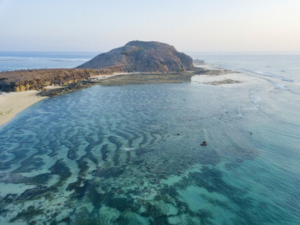Indonesia, Lombok, Aerial view of beach - KNTF02198