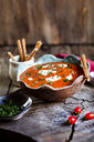 Tomato soup with sour cream and sesame sticks - SBDF03797