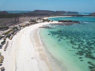 Indonesia, Lombok, Aerial view of beach - KNTF02247